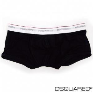 Dsquared2 ディースクエアード メンズ アンダーウェア パンツ 下着 ボクサーパンツ 総ロゴ ブラック 2015年春夏新作|fashionplate-fsp