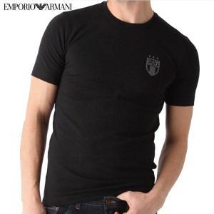 EMPORIO ARMANI エンポリオアルマーニ メンズ EA7 バックロゴ半袖Tシャツ ブラック 00020 273737 5P 206|fashionplate-fsp