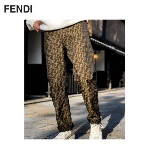 FENDI Jacquard FF Logo Trousers Pants フェンディ ジャカード FFロゴ パンツ|fashionplate-fsp