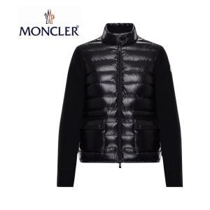 【海外限定モデル】MONCLER モンクレール ZIPPER KNIT CARDIGAN ジッパー ニット カーディガン レディース Noir Black ブラック 2019-2020年秋冬新作|fashionplate-fsp