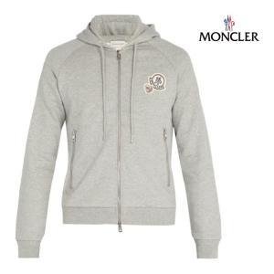 MONCLER モンクレール Cotton-jersey zip-through hooded sweatshirt ジャケット メンズ グレー 2018-2019年秋冬新作|fashionplate-fsp