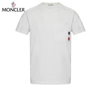 MONCLER モンクレール T-SHIRT Tシャツ Blanc ホワイト メンズ 2019年春夏 fashionplate-fsp
