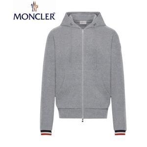 MONCLER モンクレール Mens メンズ HOODIE CARDIGAN パーカー カーディガン 2019-2020年秋冬新作 2019AW Gray グレー|fashionplate-fsp