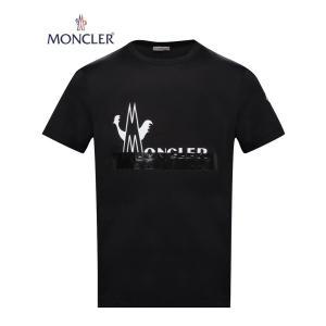 MONCLER T-SHIRT Noir Black Mens 2020SS モンクレール Tシャツ ブラック メンズ 2020年春夏新作 fashionplate-fsp
