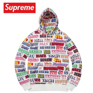Supreme シュプリーム 2017-18年秋冬 パーカー スウェット Hysteric Glamour Text Hooded ホワイト|fashionplate-fsp