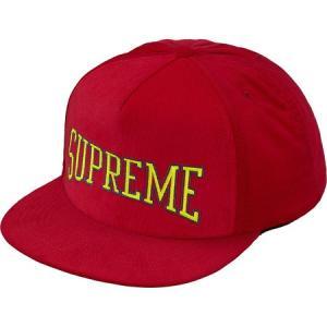 Supreme シュプリーム 2017-18年秋冬 キャップ Dotted Arc 5-Panel Red 帽子 ロゴ|fashionplate-fsp