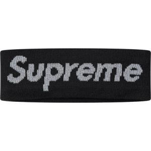 Supreme シュプリーム 2017-18年秋冬 New Era Reflective Logo Headband ブラック ロゴ|fashionplate-fsp