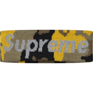 Supreme シュプリーム 2017-18年秋冬 New Era Reflective Logo Headband イエローカモ ロゴ|fashionplate-fsp