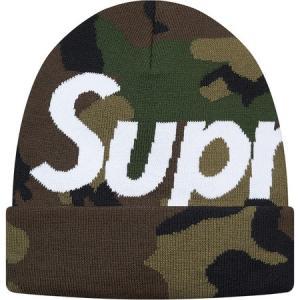 Supreme シュプリーム 2017-18年秋冬 帽子 ニット Big Logo Beanie Woodland カモ ロゴ|fashionplate-fsp