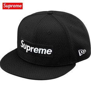 Supreme シュプリーム 2018年春夏 Mesh Box Logo New Era 59FIFTY baseball hat Black ベースボールハット|fashionplate-fsp