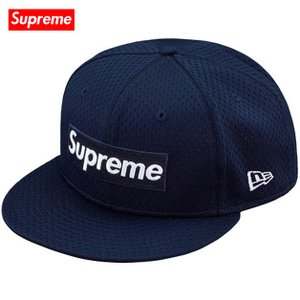 Supreme シュプリーム 2018年春夏 Mesh Box Logo New Era 59FIFTY baseball hat Navy ベースボールハット|fashionplate-fsp