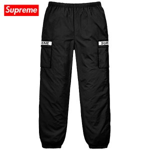 Supreme 2018年春夏 Reflective Taping Cargo Pant Black|fashionplate-fsp