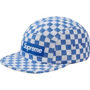 Supreme 2018年春夏 Checkerboard Camp Cap ブルー 帽子 キャップ fashionplate-fsp