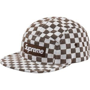 Supreme 2018年春夏 Checkerboard Camp Cap ブラウン 帽子 キャップ fashionplate-fsp