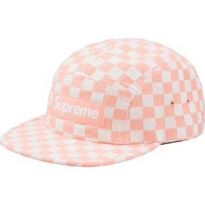 Supreme 2018年春夏 Checkerboard Camp Cap ピンク 帽子 キャップ|fashionplate-fsp