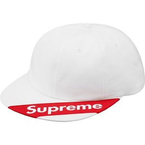 Supreme 2018年春夏 Visor Label 6-panel Cap ホワイト 帽子 キャップ fashionplate-fsp