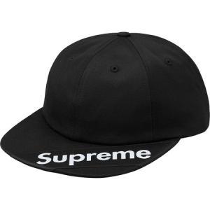 Supreme 2018年春夏 Visor Label 6-panel Cap ブラック 帽子 キャップ fashionplate-fsp