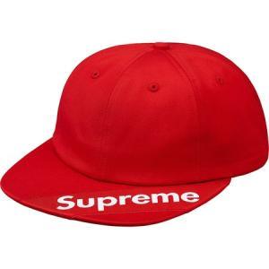 Supreme 2018年春夏 Visor Label 6-panel Cap レッド 帽子 キャップ fashionplate-fsp