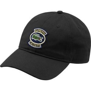 Supreme 2018年春夏 LACOSTE Twill 6-Panel Cap 帽子 キャップ ブラック|fashionplate-fsp