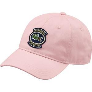 Supreme 2018年春夏 LACOSTE Twill 6-Panel Cap 帽子 キャップ ピンク|fashionplate-fsp