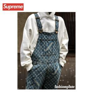 Louis Vuitton × Supreme AW Jacquard Denim Overall ...