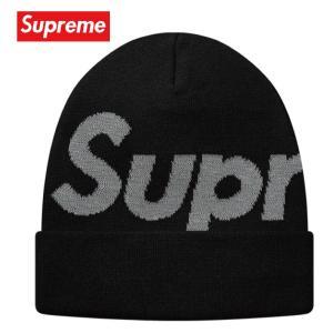 Supreme シュプリーム Big Logo Beanie ビーニー ニット 帽子 ブラック 2018-2019年秋冬 fashionplate-fsp