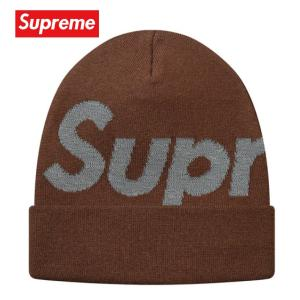 Supreme シュプリーム Big Logo Beanie ビーニー ニット 帽子 ブラウン 2018-2019年秋冬 fashionplate-fsp