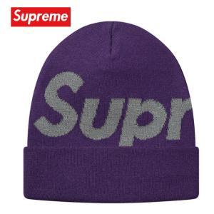 Supreme シュプリーム Big Logo Beanie ビーニー ニット 帽子 パープル 2018-2019年秋冬|fashionplate-fsp