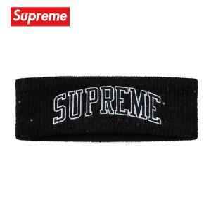 Supreme シュプリーム New Era Sequin Arc Logo Headband ヘッドバンド ブラック 2018-2019年秋冬 fashionplate-fsp