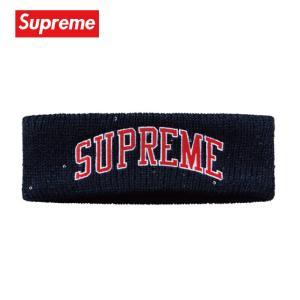 Supreme シュプリーム New Era Sequin Arc Logo Headband ヘッドバンド ネイビー 2018-2019年秋冬 fashionplate-fsp
