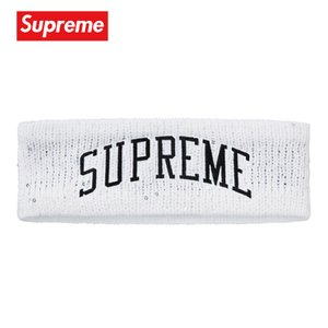 Supreme シュプリーム New Era Sequin Arc Logo Headband ヘッドバンド ホワイト 2018-2019年秋冬 fashionplate-fsp