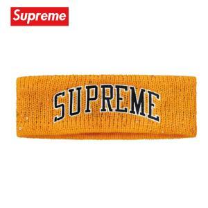 Supreme シュプリーム New Era Sequin Arc Logo Headband ヘッドバンド イエロー 2018-2019年秋冬 fashionplate-fsp