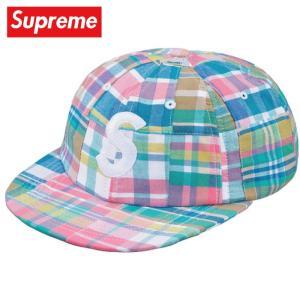 Supreme シュプリーム Patchwork Madras S Logo 6-Panel キャップ 帽子 Pink Plaid 2019年春夏|fashionplate-fsp