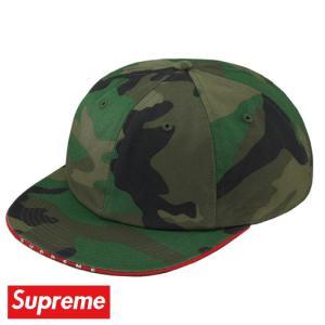 Supreme シュプリーム Visor Logo Twill 6-Panel キャップ 帽子 Woodland camo カモ 2019年春夏|fashionplate-fsp