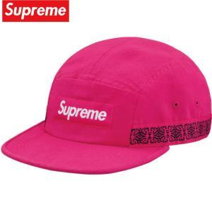 Supreme シュプリーム Side Tape Camp Cap キャップ 帽子 Magenta マゼンタ 2019年春夏|fashionplate-fsp