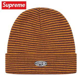 Supreme シュプリーム Zig Zag Stripe Beanie ニット ビーニー 帽子 Orange オレンジ 2019-2020年秋冬|fashionplate-fsp