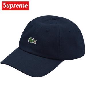 Supreme シュプリーム LACOSTE Pique 6-Panel Cap キャップ 帽子Navy ネイビー 2019-2020年秋冬|fashionplate-fsp