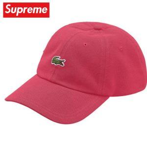 Supreme シュプリーム LACOSTE Pique 6-Panel Cap キャップ 帽子 Pink ピンク 2019-2020年秋冬|fashionplate-fsp