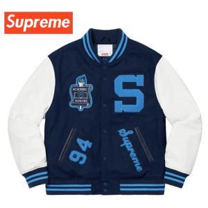 Supreme シュプリーム Team Varsity Jacket チーム バーシティ ジャケット スタジャン Navy ネイビー 2019-2020年秋冬新作 fashionplate-fsp