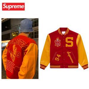 Supreme シュプリーム Team Varsity Jacket チーム バーシティ ジャケット スタジャン Red レッド 2019-2020年秋冬新作 fashionplate-fsp