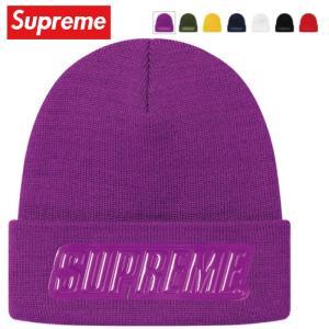 Supreme シュプリーム Raised Patent Logo Beanie ニット ビーニー 帽子 7カラー 2019-2020年秋冬|fashionplate-fsp