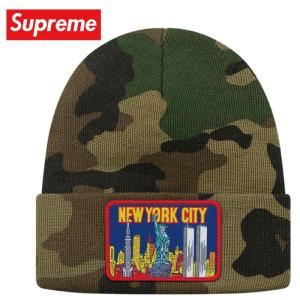 Supreme シュプリーム NY Patch Beanie ニット ビーニー 帽子 Woodland Camo 2019-2020年秋冬|fashionplate-fsp