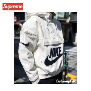 Supreme NIKE Anorak Leather Jacket white 2019AW シュプリーム ナイキ アノラック レザージャケット ホワイト  2020年秋冬|fashionplate-fsp