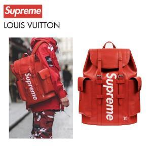 LOUIS VUITTON×Supreme ルイ・ヴィトン シュプリーム コラボ ロゴ リュック バ...