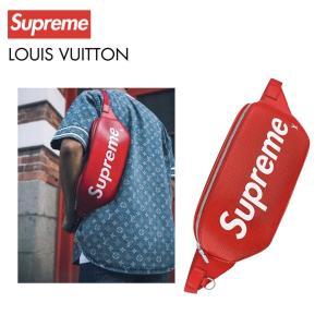LOUIS VUITTON×Supreme ルイ・ヴィトン シュプリーム コラボ ロゴ バムバッグ ウエストバッグ M53418|fashionplate-fsp