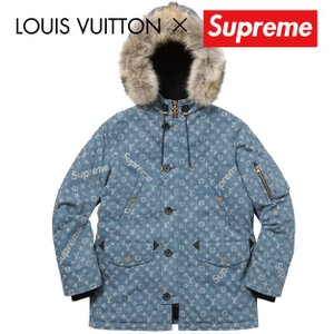 LOUIS VUITTON×Supreme ルイ・ヴィトン シュプリーム コラボ ロゴ モノグラムデニム N-3B|fashionplate-fsp