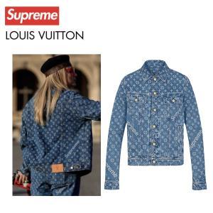 LOUIS VUITTON×Supreme ルイ・ヴィトン シュプリーム コラボ ロゴ モノグラム デニム ジャケット ジャガード|fashionplate-fsp