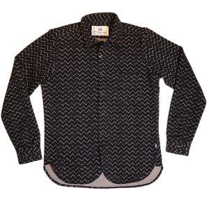 フォーシーズンズガレージ Four Seasons Garage ギザギザストライプ柄 暖かコットンシャツ 0105-38006 通常販売価格:13200円 fashionspace-yokoya