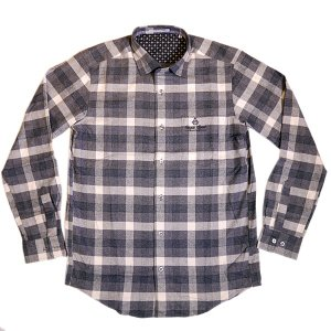 バジエ VAGIIE チェック柄 長袖コットンネルシャツ 1120-1008 日本製 (アウトレット30%OFF) 通常販売価格:18700円|fashionspace-yokoya