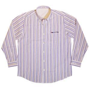 バジエ VAGIIE ストライプ柄 綿・麻素材 長袖シャツ 日本製(アウトレット30%OFF) 通常販売価格:17600円|fashionspace-yokoya
